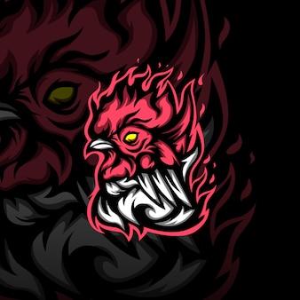 Logo maskotka eago jago z kurczaka