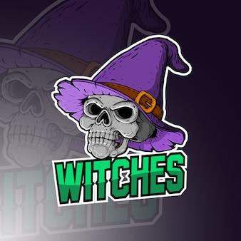 Logo maskotka esport czarownic