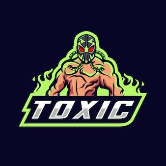 Logo maskotka esport toksyczny potwór