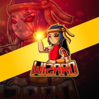 Logo maskotka esport wizard