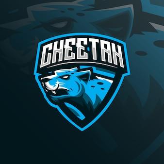 Logo maskotka gepard
