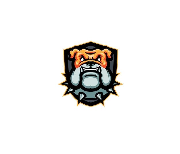 Logo maskotka głowa buldoga