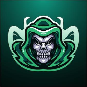 Logo maskotka głowa czaszki reaper