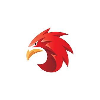 Logo maskotka głowa sokoła