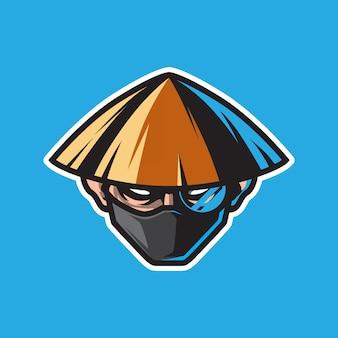 Logo maskotka głowy człowieka