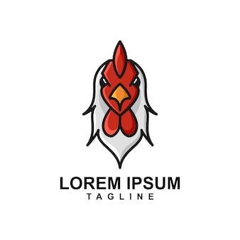 Logo maskotka głowy koguta