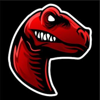 Logo maskotka głowy raptor
