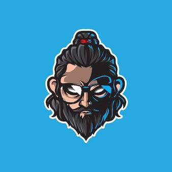 Logo maskotka hipster