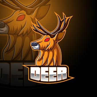 Logo maskotka jelenia esport