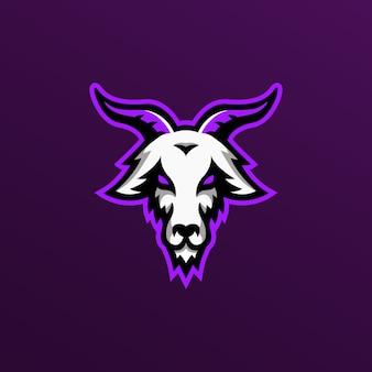 Logo maskotka koza ilustracja