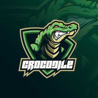 Logo maskotka krokodyl