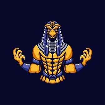 Logo maskotka ludzi egiptu