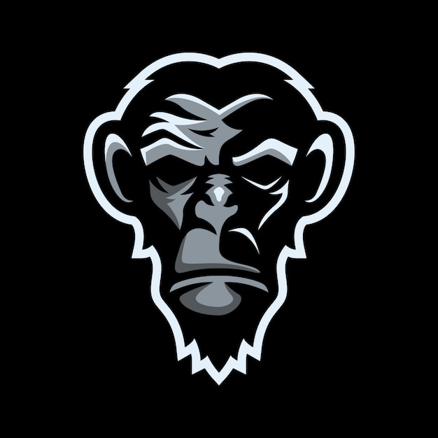 Logo maskotka małpa
