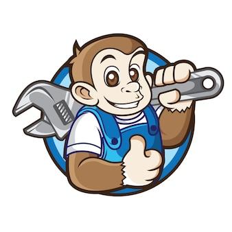 Logo maskotka mechanika