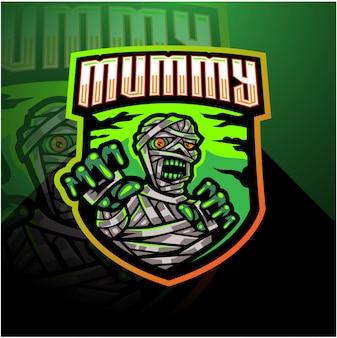 Logo maskotka mumia