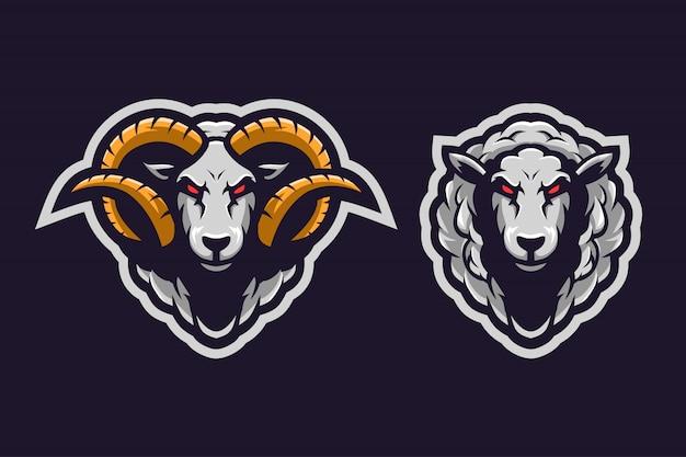 Logo maskotka owiec