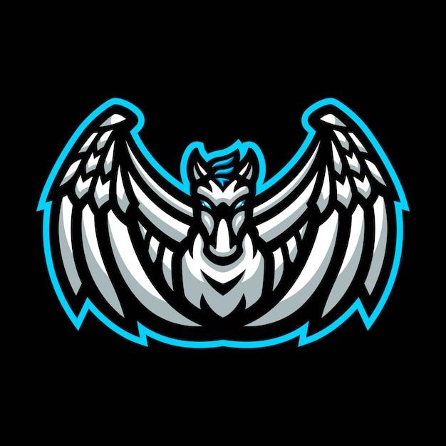 Logo maskotka pegaz