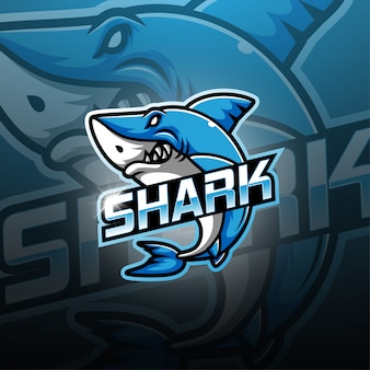 Logo maskotka shark esport