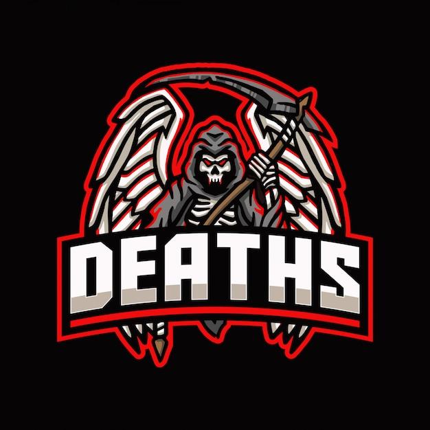 Logo maskotka śmierci żniwiarza