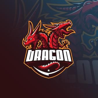 Logo maskotka smoka