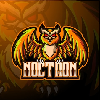 Logo maskotka sowa