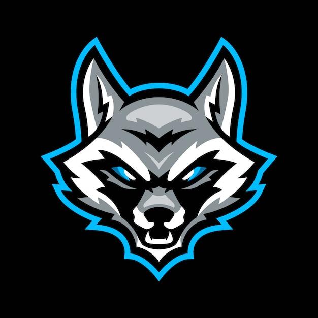 Logo maskotka sport racoon