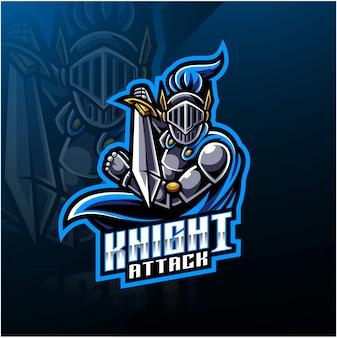 Logo maskotka sport rycerz