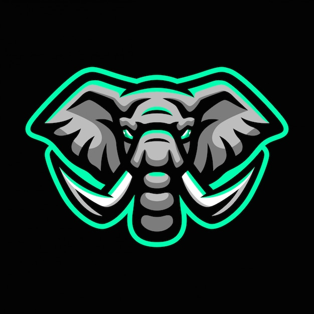Logo maskotka sport słoń