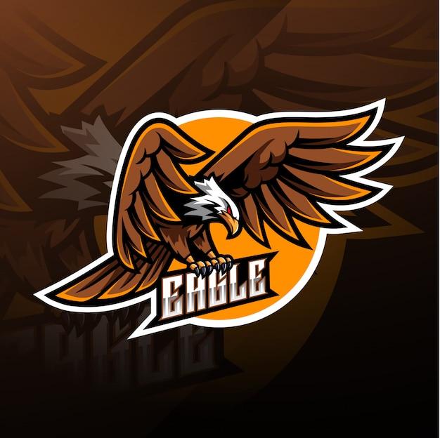 Logo maskotka sportowa eagle