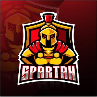 Logo maskotka sportowa spartan