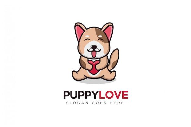 Logo maskotka szczeniaka