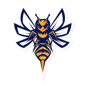 Logo maskotka szerszenie trzmiel