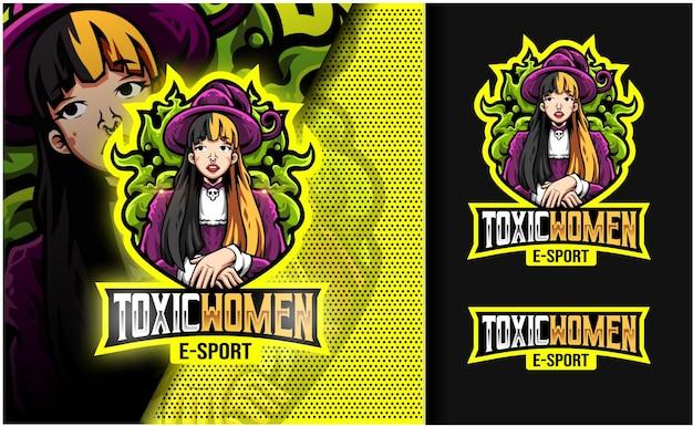Logo maskotka toksyczna dziewczyna