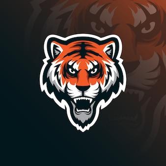 Logo maskotka tygrys