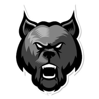 Logo maskotka wilk lub pies