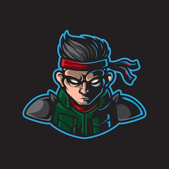 Logo maskotka wojownika