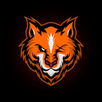Logo maskotka wściekły lis dziki e