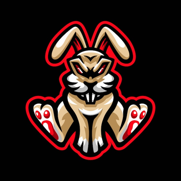 Logo maskotka zły królik
