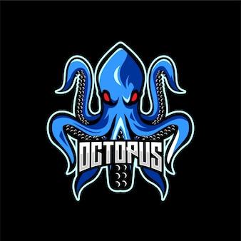 Logo maskotka zły ośmiornicy