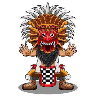 Logo Maskotki Barong Chibi Premium Wektorów
