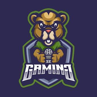 Logo maskotki bobra