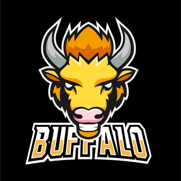 Logo maskotki buffalo sport i esport
