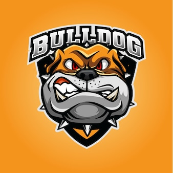 Logo maskotki bulldog dla e-sportu i sportu