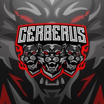 Logo maskotki cerberus esports