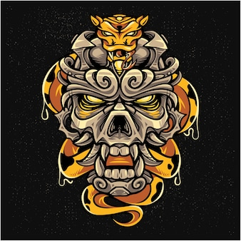 Logo maskotki czaszki cesarza