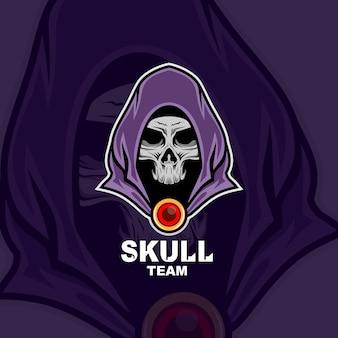 Logo maskotki czaszki