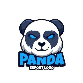 Logo maskotki do esportu z pandą
