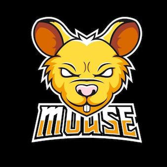 Logo maskotki do gier sportowych i e-sportowych myszy