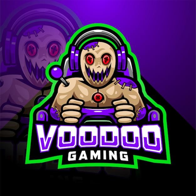 Logo maskotki e-gier voodoo