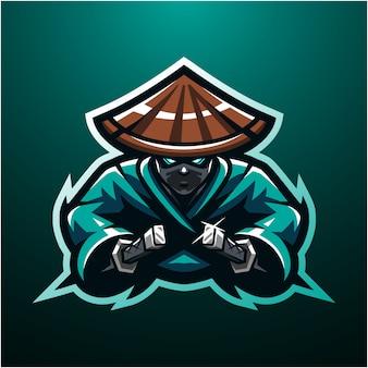 Logo maskotki e-sport ninja